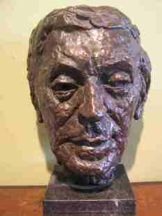Bust of Charles Causley By Anthony Stones Exhibited at the Tribute From The Artists Exhibition, 1987