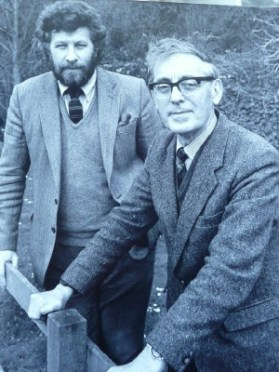 Charles Causley with Robert Tilling, 1988
