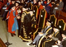 Charles received many honours in his lifetime. Here he receives the honorary degree of Doctor of Letters from the University of Exeter in 1977.