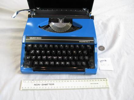 """Charles Causley's Typewriter: """"Blue"""", The Charles Causley Trust Artefact Archive, 2014"""