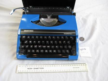 "Charles Causley's Typewriter: ""Blue"", The Charles Causley Trust Artefact Archive, 2014"