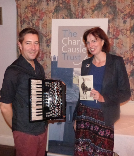 First Charles Causley Poet in Residence Kathryn SImmonds, with Jim Causley, November 2013