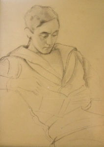 Drawing of a young Causley in naval uniform by Stanley Simmonds, reproduced by kind permission of Kent Stanton