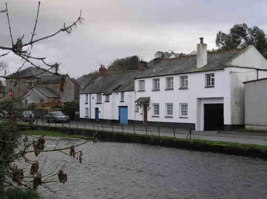 By St Thomas water/Where the river is thin/We looked for a jam jar/To catch the quick fish in From: By St Thomas Water. St Thomas water is in fact the river Kensey which flows past St Thomas church. Causley's birthplace is the white house on the left of this photograph