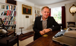 Patron of The Charles Causley Trust, Sir Andrew Motion, at the opening of Charles Causley's House, July 2014
