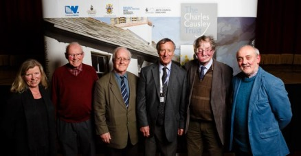 Trustees of The Charles Causley Trust, March 2015. Left to right: Fiona Colville, Les Baker, Barry Helme, David Fryer (Chair), Graham Facks-Martin, Malcolm Wright