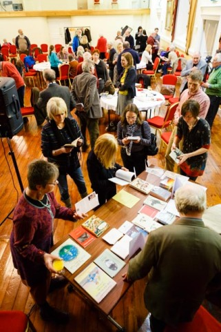The bookstall buzzing during the interval, March 2015